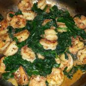 Shrimp & Sautéed Spinach