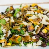 Black Bean and Spinach Salad with Gouda Cheese