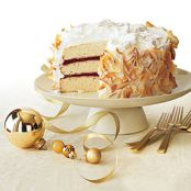 Coconut Cake with Raspberry Filling