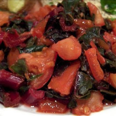 Paleo Chard with Tomatoes