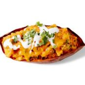Poblano-Cheddar Twice-Baked Sweet Potatoes