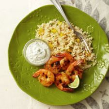 Grilled Curry Shrimp with Mango Couscous - Dairy Free