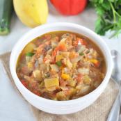 Slow Cooker Ratatouille Soup