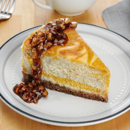 Pumpkin Pecan Swirl Cheesecake