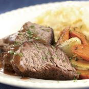 Slow-Cooked Pot Roast with Mustard & Horseradish Gravy