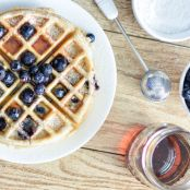 Meyer Lemon & Blueberry Waffles