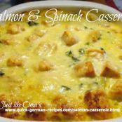 Salmon Casserole with Spinach