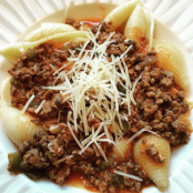 Sea Shell Pasta Bolognese