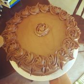 Chocolate Buttermilk Cake with Peanut Butter Filling and Dark Chocolate Buttercream