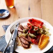 Cumin-Spiced Flank Steak with Grape Tomato Salsa Recipe