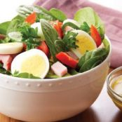 Spinach Salad with Ham & Egg