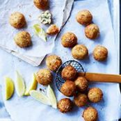Fried Italian Turkey & Cheese Meatballs