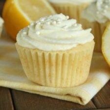 Lemon Cupcakes with Lemon Mousse Frosting