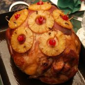 Pineapple & Cherry Glazed Ham