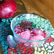 Pomegranate and Mint Sorbet