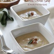 Tuscan White Bean and Roasted Garlic Soup (Crock Pot Recipe)