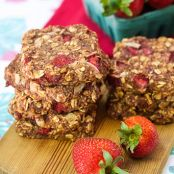 Strawberry Breakfast Cookies