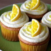 Lemon Drop Martini Cupcakes