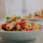 CHICKEN-RATATOUILLE PASTA  {sandra lee}