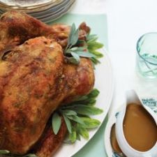 Roasted Turkey with Sage Butter & Marsala Sauce