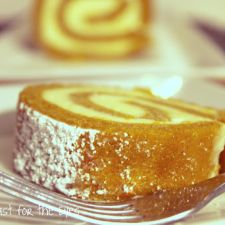 Classic Pumpkin Roll with Orange Cream Cheese Filling