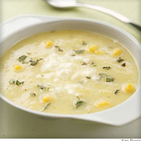 Golden Summer Squash & Corn Soup