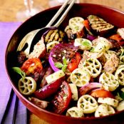Warm Pasta Salad with Italian Turkey Sausage