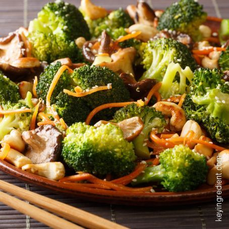 Chinese Style Broccoli with Mushrooms