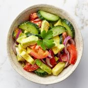 Cucumber, Tomato, & Avocado Salad