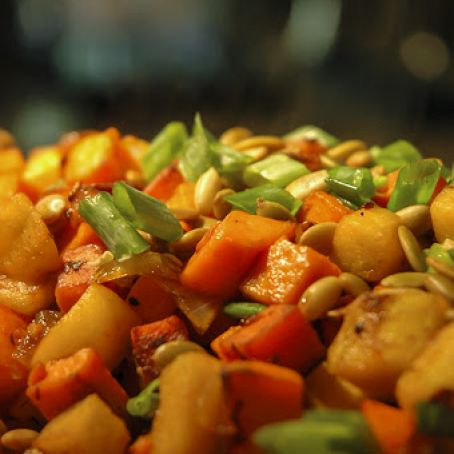 Sweet Potato Hash with Apples & Bacon