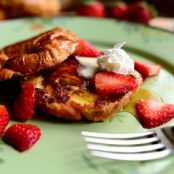 Croissant French Toast with Cinnamon Cream Cheese Spread