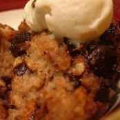Banana Chocolate Chip Bread Pudding    vegan