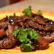Beef Medallions and Mushrooms in Red Wine Sauce PRINT
