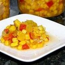 Sweet 'n Hot Corn Relish (For Canning)