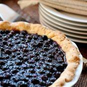 Open-face Blueberry Pie