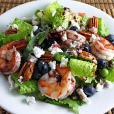 Shrimp with Blueberry Salad