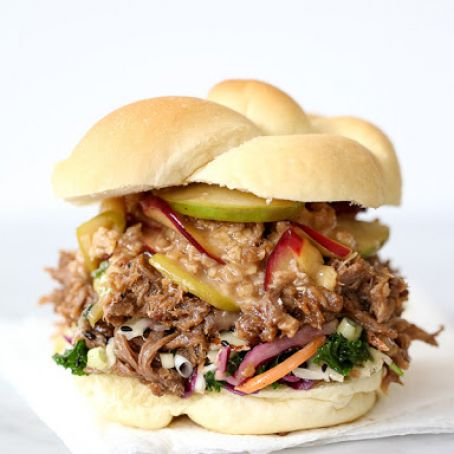 Korean Pulled Pork Sandwiches with Caramel Apple Crumble