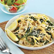 Spaghetti with Ricotta, Lemon and Spinach
