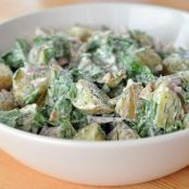 Potato Salad with Yogurt, Arugula, and Herbs