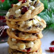 Chewy Cranberry White Chocolate Chip Cookies