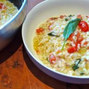 Fresh Tomato, basil and ricotta risotto