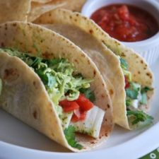 Fish Tacos with Avocado-Cabbage Slaw