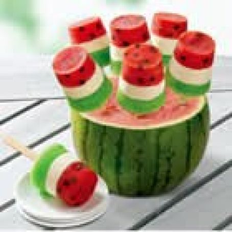 Watermelon Pops (made with jello)