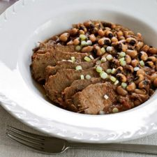 Slow-Cooker Spicy Brisket with Texas Caviar