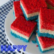 4th of July Rice Krispies Treats