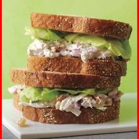 Poached Chicken Salad Sandwiches