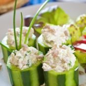 Chicken Salad Cucumber Cups Recipe