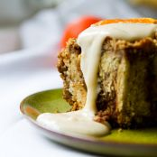 Coffee Cake Cinnamon Rolls, Orange Frosting  vegan