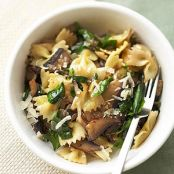 Bow Tie Pasta with Mushrooms & Spinach