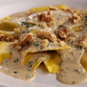 Butternut Squash Ravioli with Brown Butter Sauce